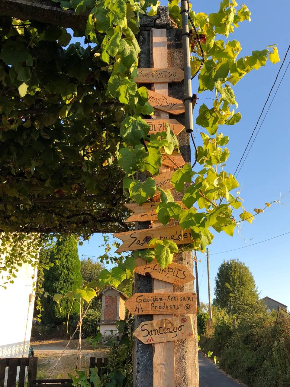 Holzpfeile bei Arzua