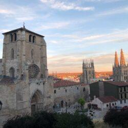 Kathedrale Burgos im Sonnenuntergang