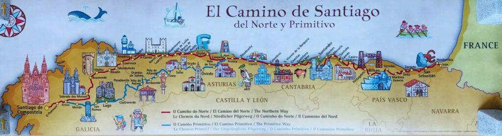 Landkarte del Norte und Primitivo