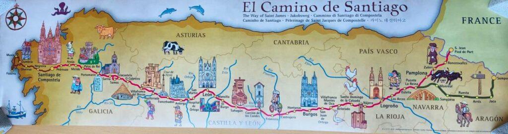 Landkarte Camino Francés