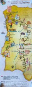 Landkarte Caminos de Santiago
