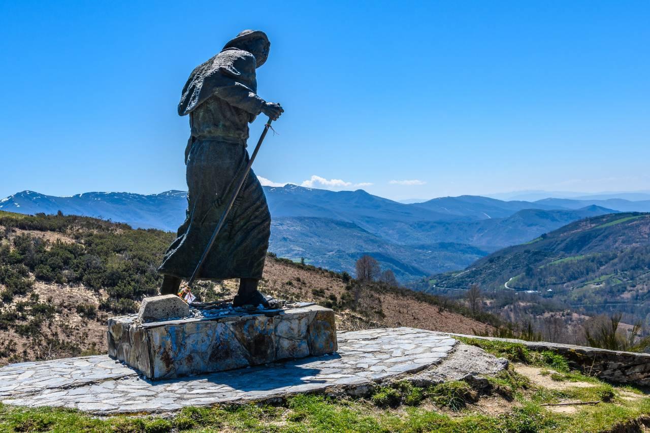 Pilgerstatue Camino de Santiago