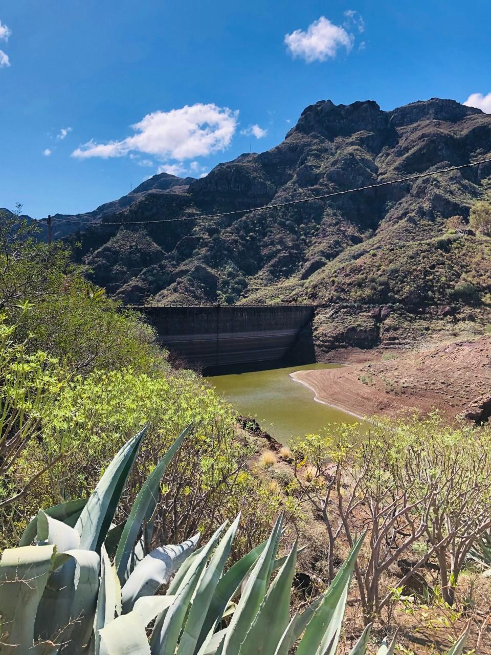 Staudamm im Anaga Gebirge