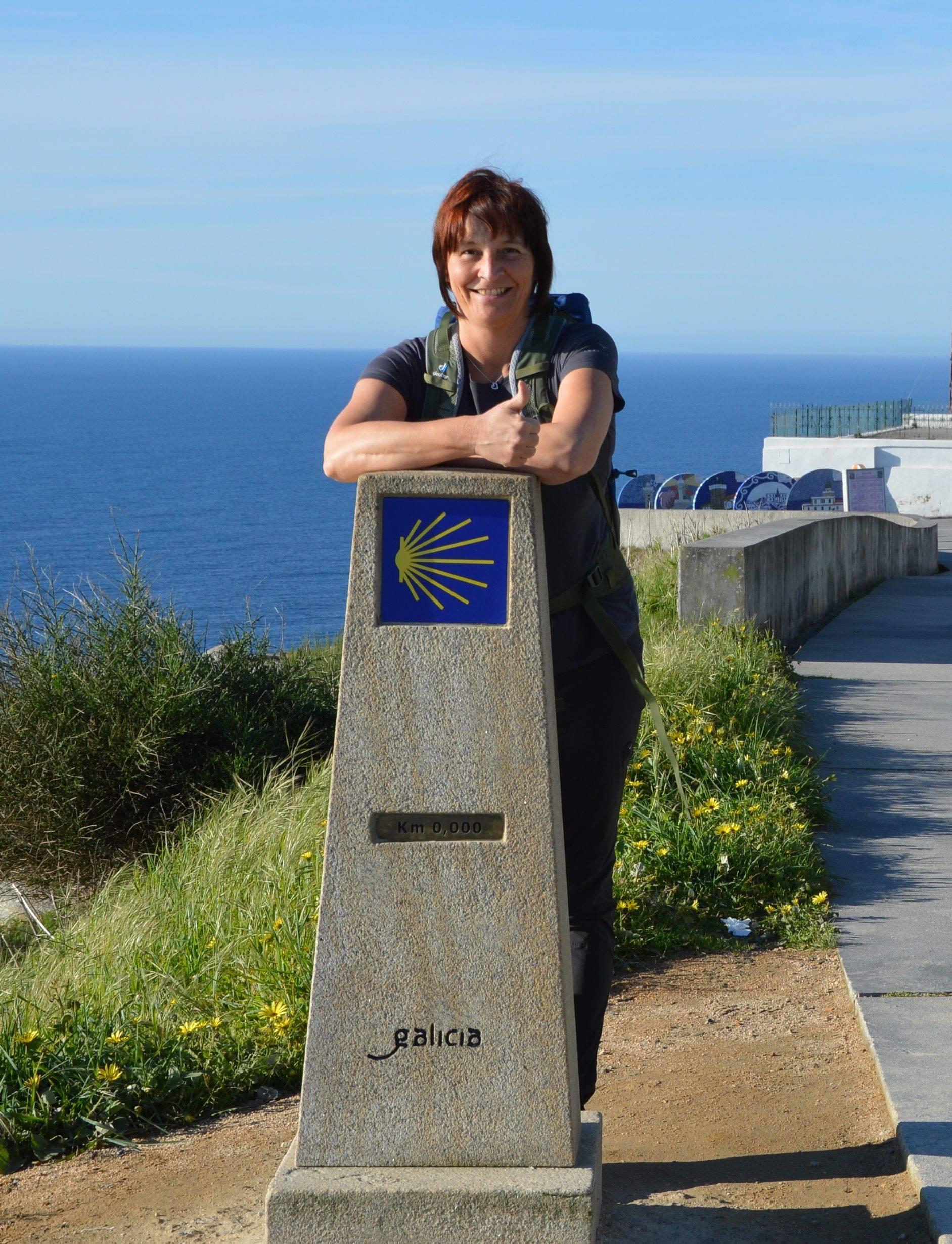Susanne am Kap Finisterre