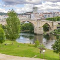 Roman bridge over Minno river in Ourense